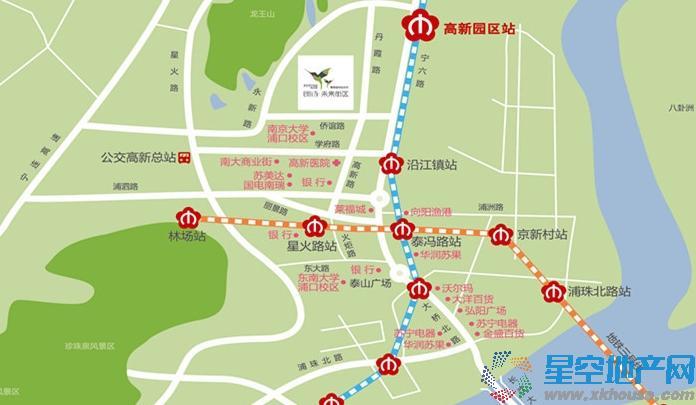朗诗未来街区交通图