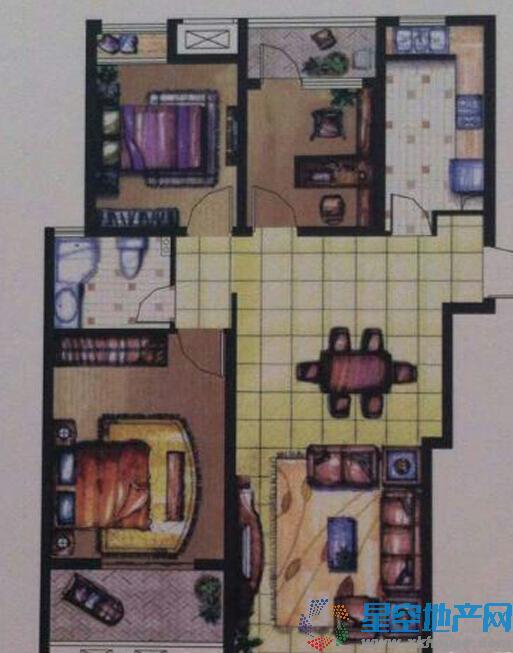 融侨观邸三室二厅一卫