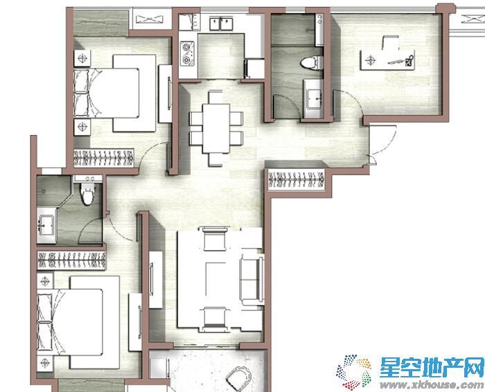 富力尚悦居_3室2厅2卫1厨