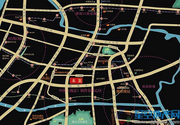 楚翘城交通图