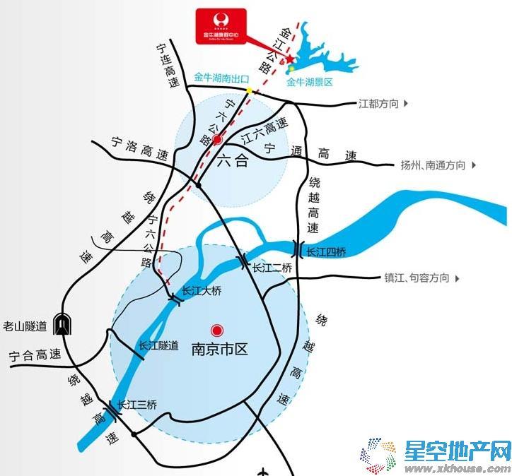 金牛湖度假中心交通图