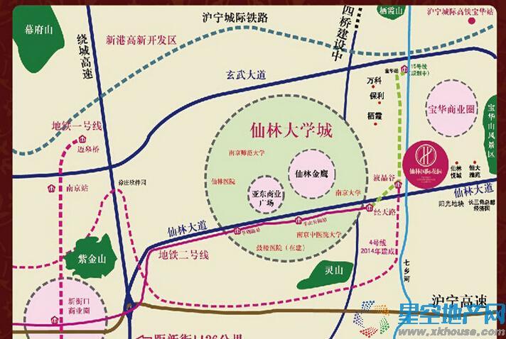 仙林国际花园交通图