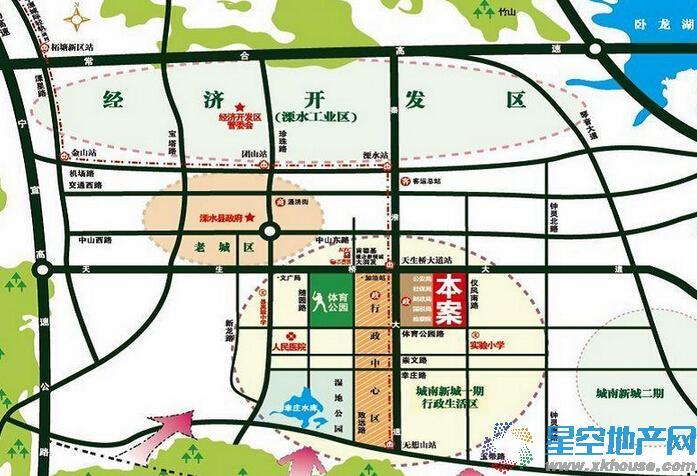 中南锦城交通图