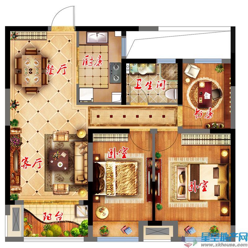 中国铁建青秀城二室二厅一卫