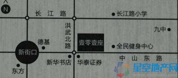 壹零壹座交通图