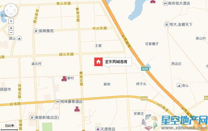 亚东同城逸境交通图