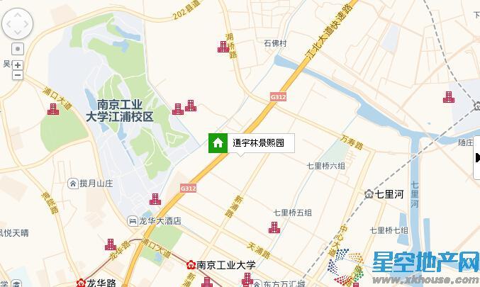 通宇林景熙园交通图