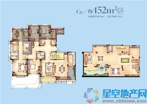 可改造空间约60平米,实享空间约512平米
