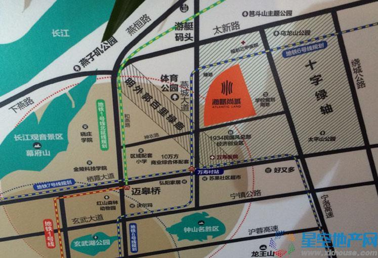 电建海赋尚城交通图