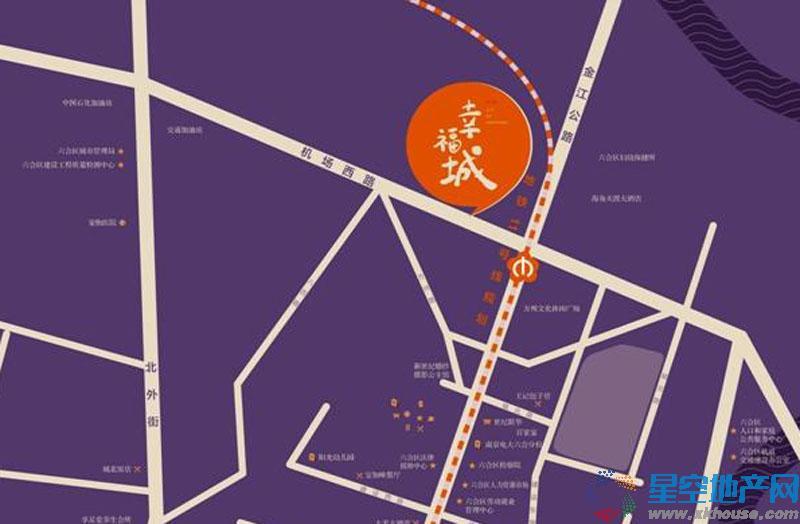 荣鼎幸福城交通图