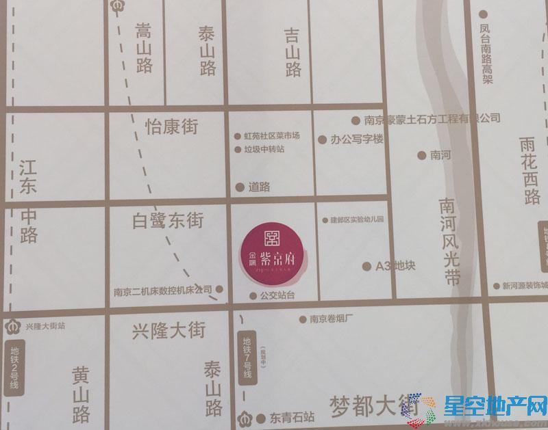 金隅紫京府交通图