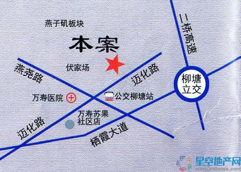 电建洺悦府交通图