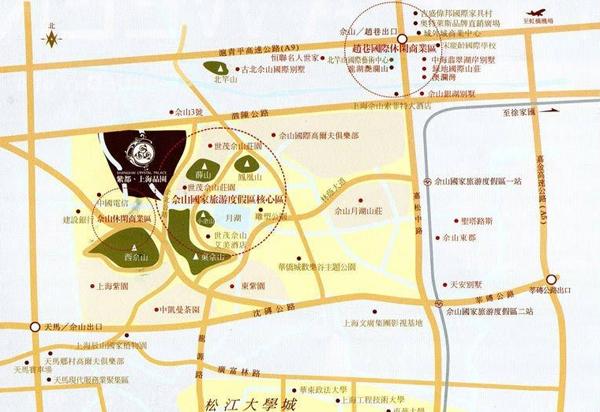 紫都上海晶园交通图