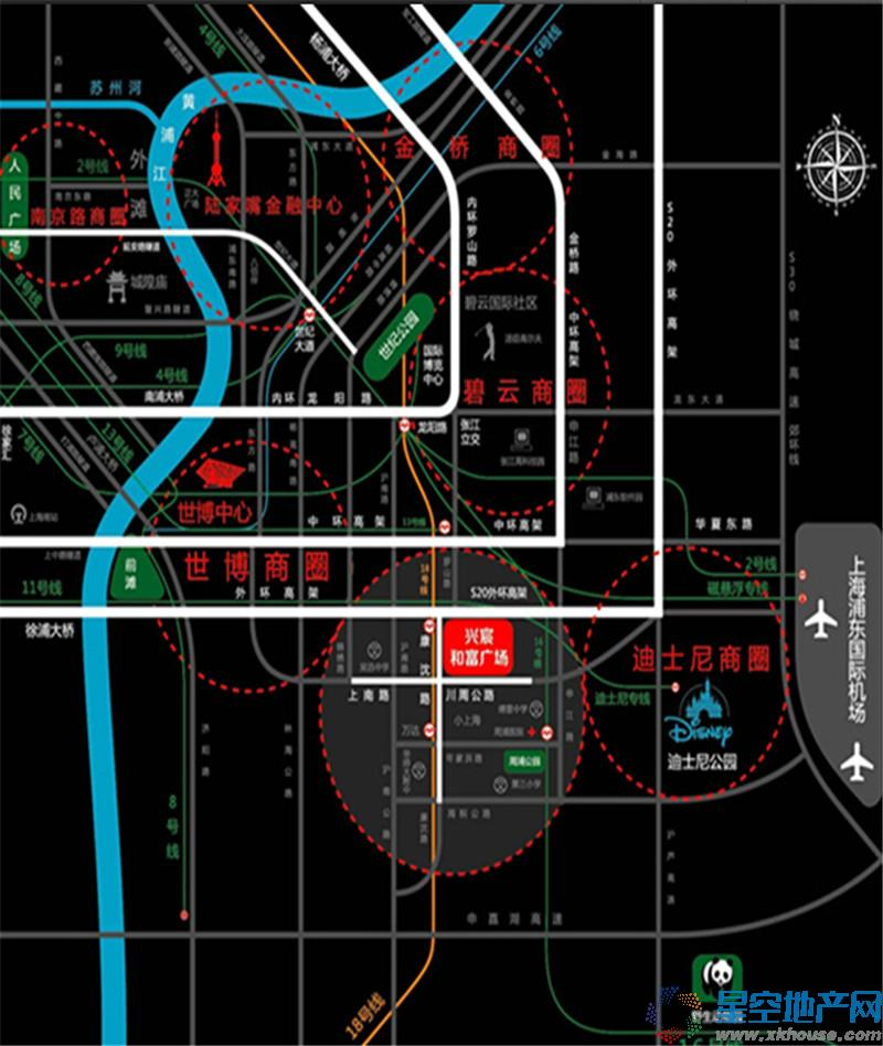 兴宸和富广场交通图