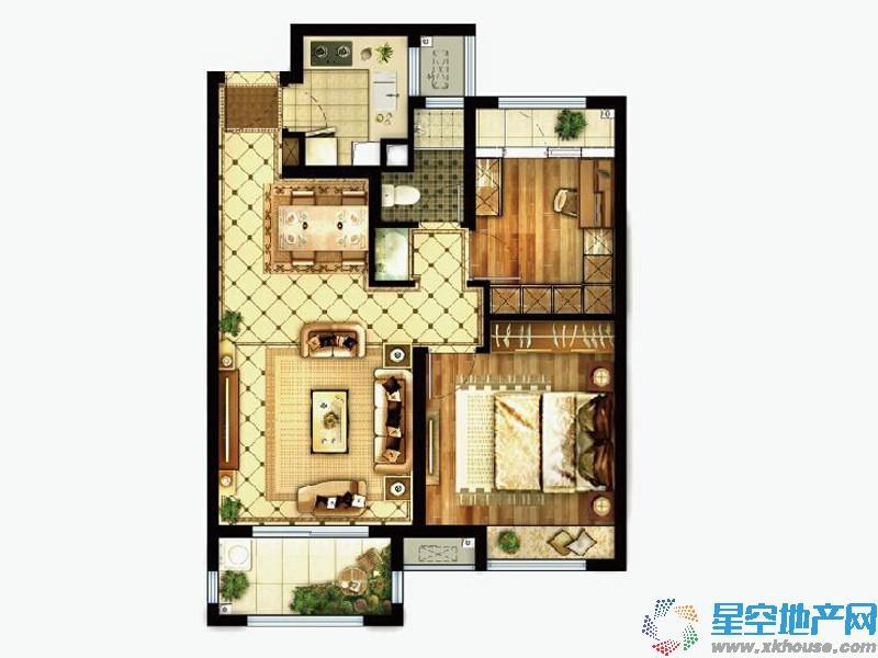 路劲上海派二室二厅一卫