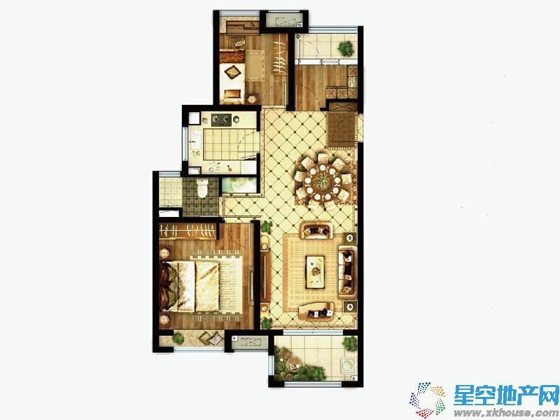 路劲上海派三室二厅一卫