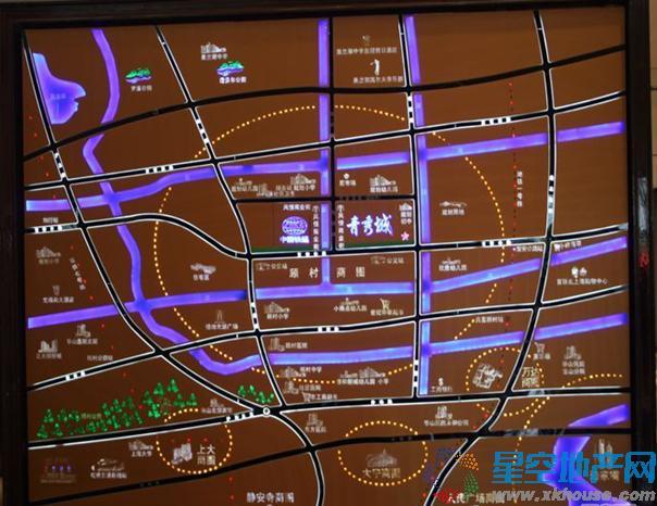 中国铁建青秀城二期交通图