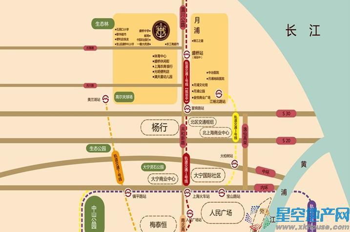 宝华北岸郡庭交通图