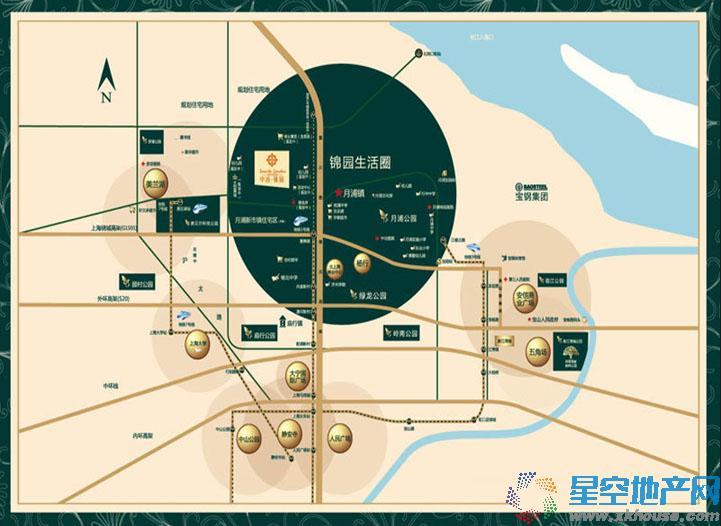 中冶锦园交通图