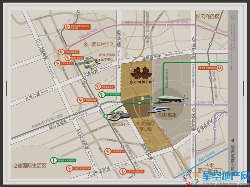富力虹桥十號交通图