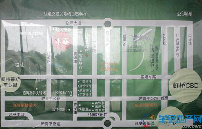 绿中海明苑交通图