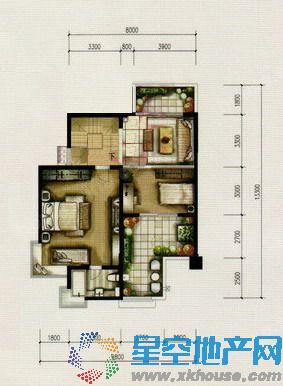 绿中海明苑三室二厅三卫