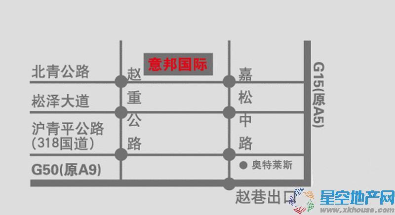 上海意邦家居博览园交通图