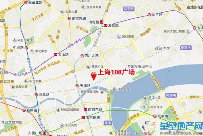 上海108广场交通图