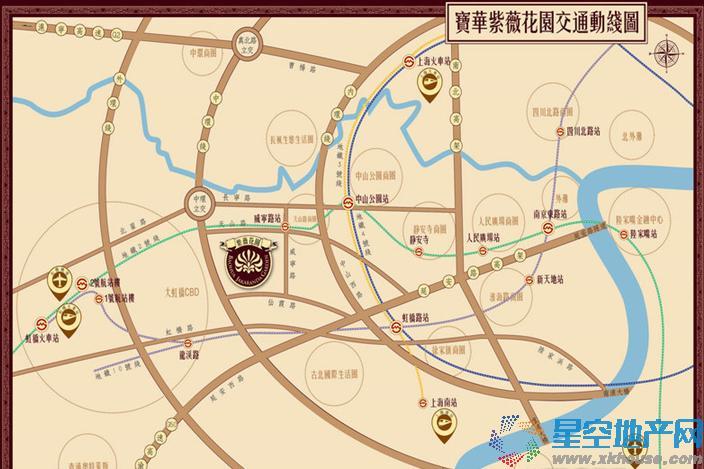 宝华紫薇花园交通图