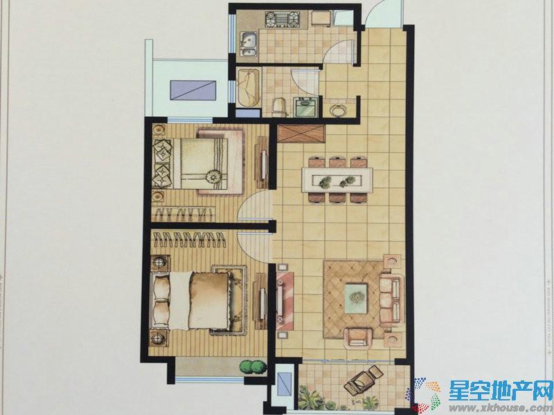西上海御庭二室二厅一卫