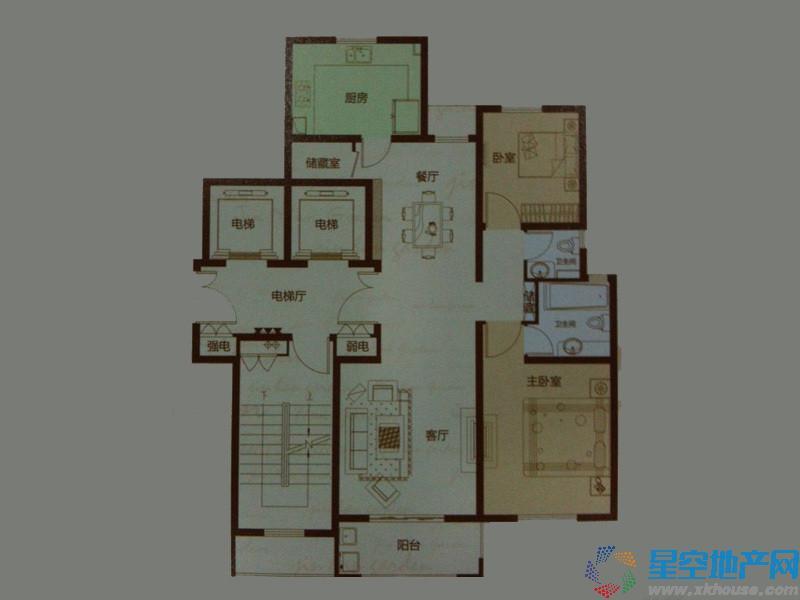 金瀚园二室二厅二卫