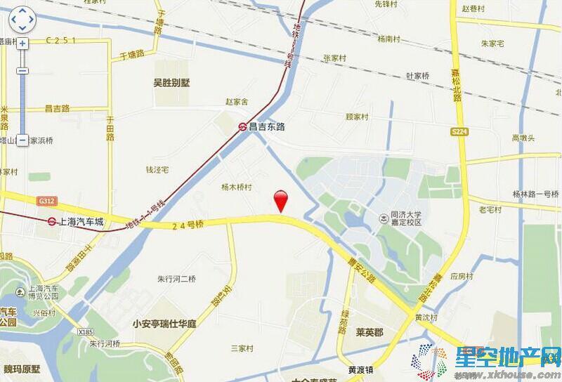 西上海御庭交通图