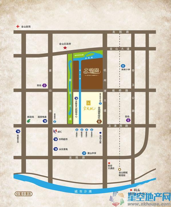 金瀚园交通图