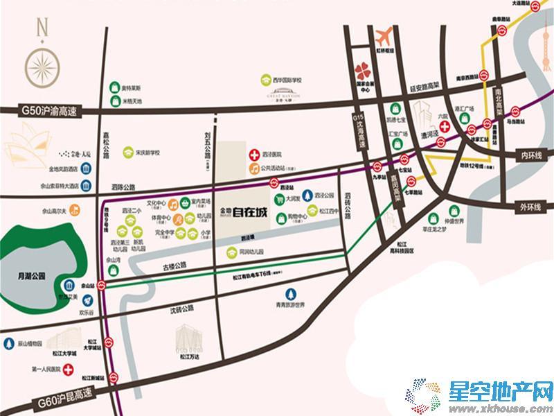 金地自在城2期交通图