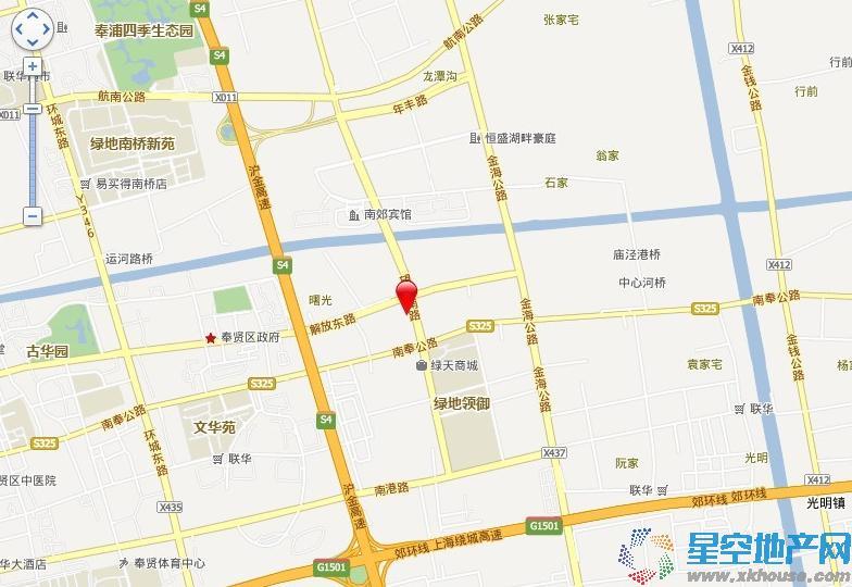 中粮南桥半岛交通图