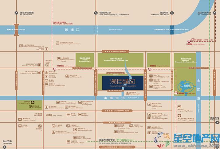 汤臣臻园交通图