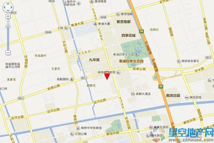 奉贤宝龙城市广场交通图