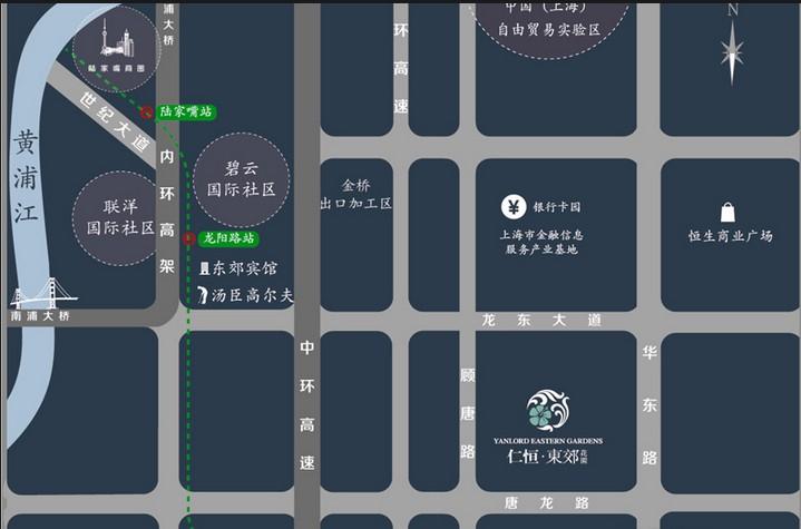仁恒东郊花园交通图