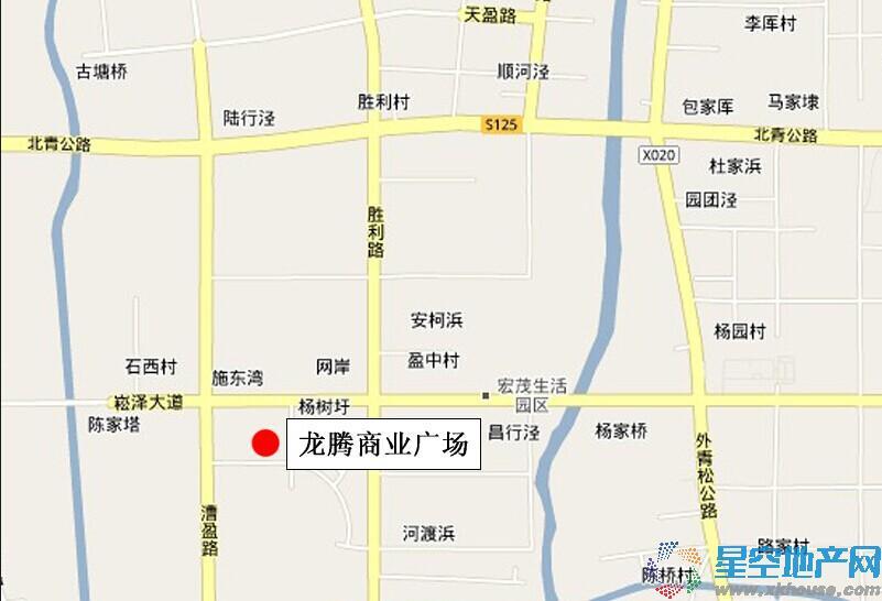 龙腾商业广场交通图