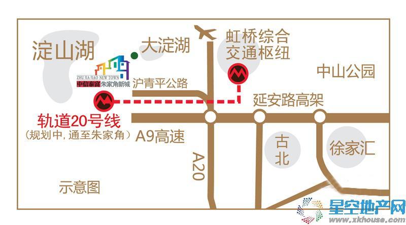 中信泰富朱家角新城别墅交通图