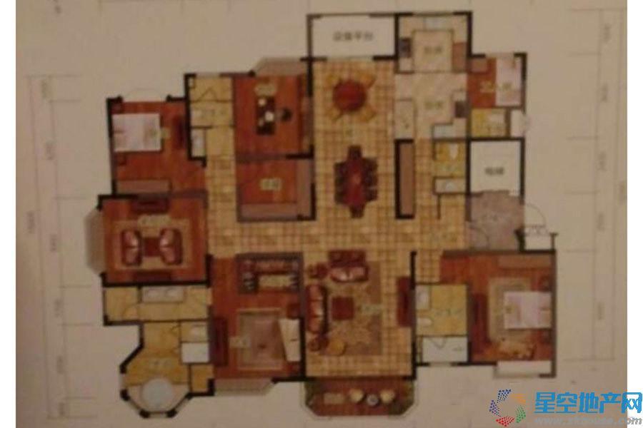 御岛财富公馆五室以上三厅五卫