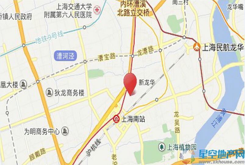 徐汇万科中心交通图
