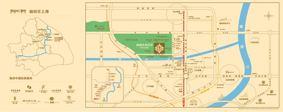 融创大宁北玉兰公馆交通图