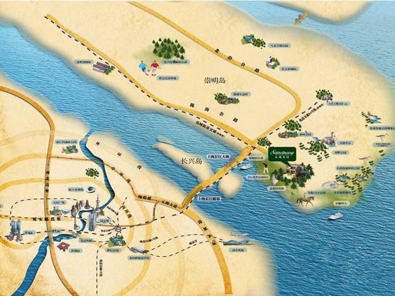 华贸东滩花园交通图