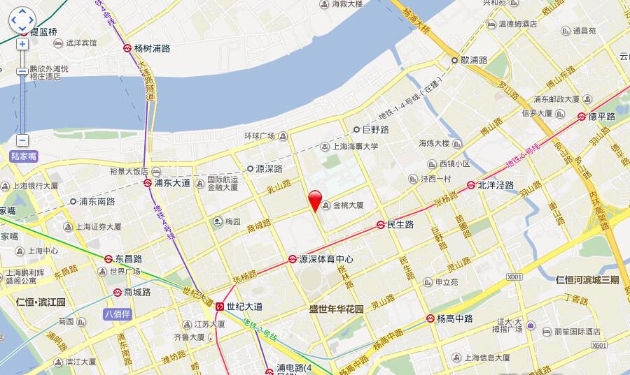 地产尚海郦景交通图