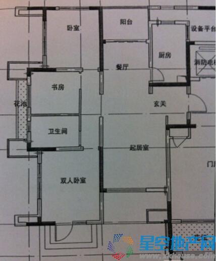 虹锦湾三室二厅一卫