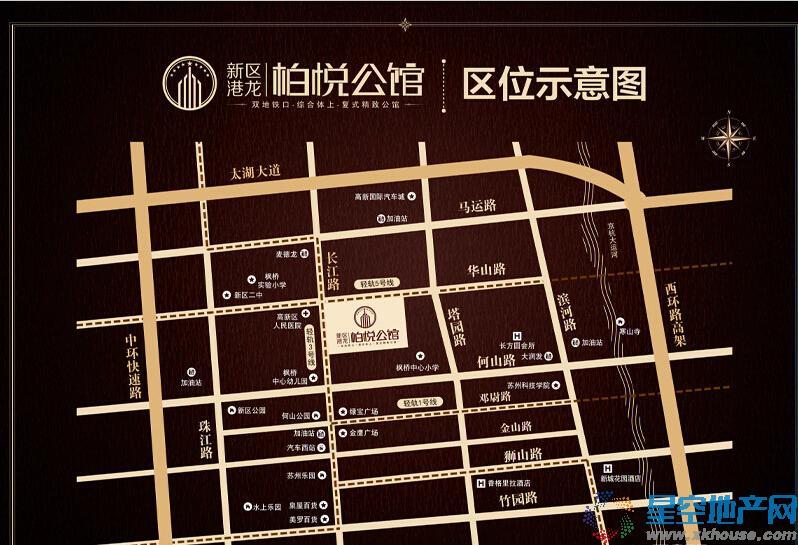 新区栢悦公馆交通图