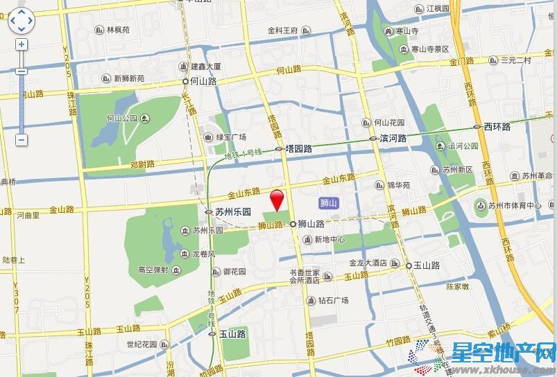 龙湖时代天街交通图