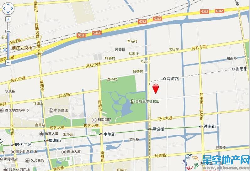 万科玲珑东区交通图