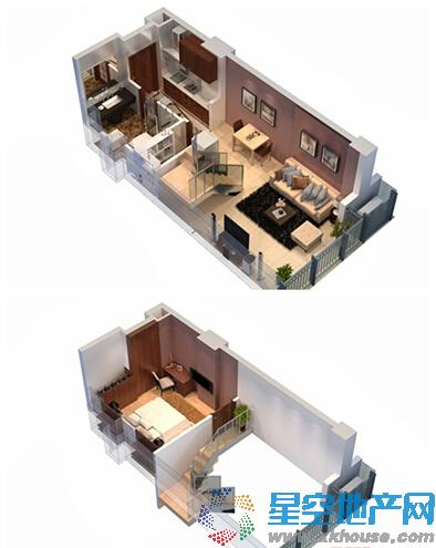 蓝天广场_1室2厅1卫1厨